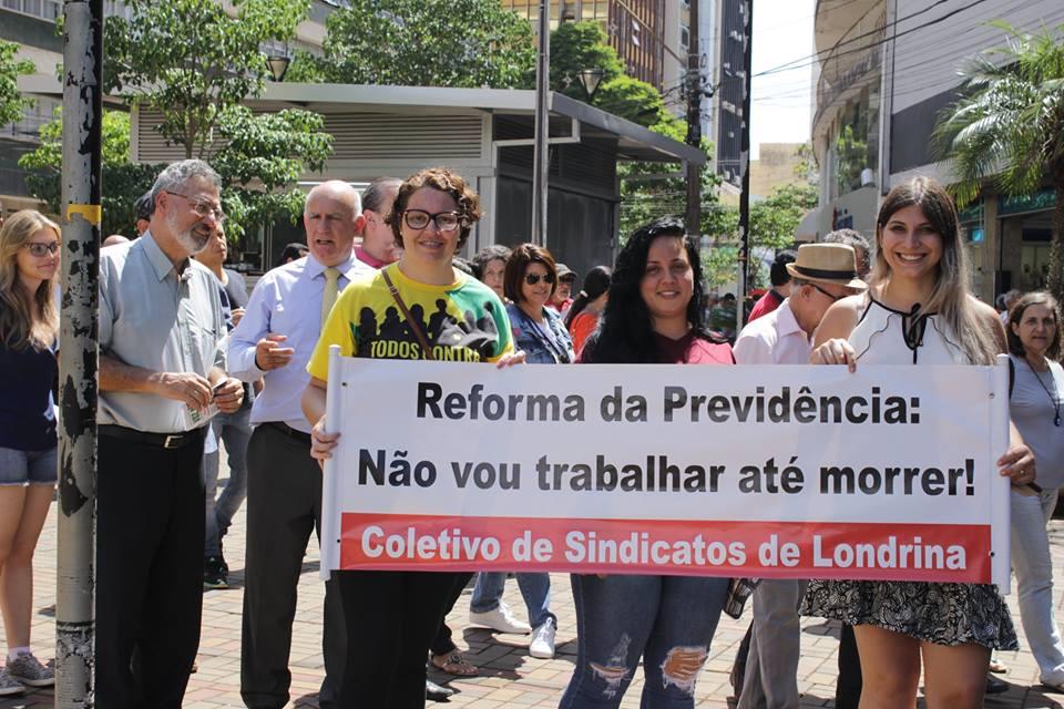 """""""REFORMA DA PREVIDÊNCIA NÃO PODE PASSAR"""", AFIRMAM SINDICALISTAS"""""""