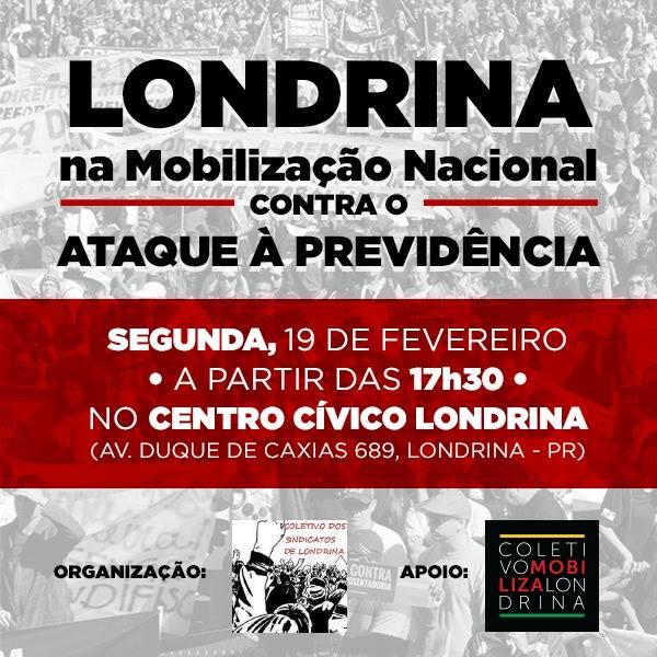 COLETIVO DE SINDICATOS MANTÉM PROTESTO  CONTRA REFORMA DA PREVIDÊNCIA PARA DIA 19