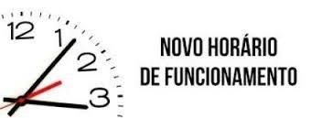 NOVO HORÁRIO DE ATENDIMENTO