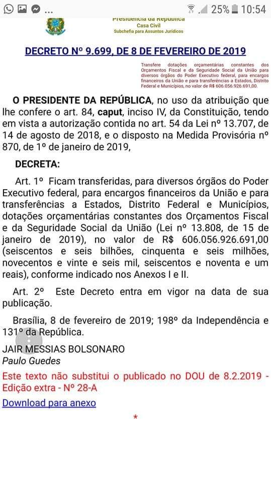 GOVERNO FEDERAL TRANSFERE MAIS DE 6 BILHÕES DA PREVIDÊNCIA PARA PAGAR DIVIDAS