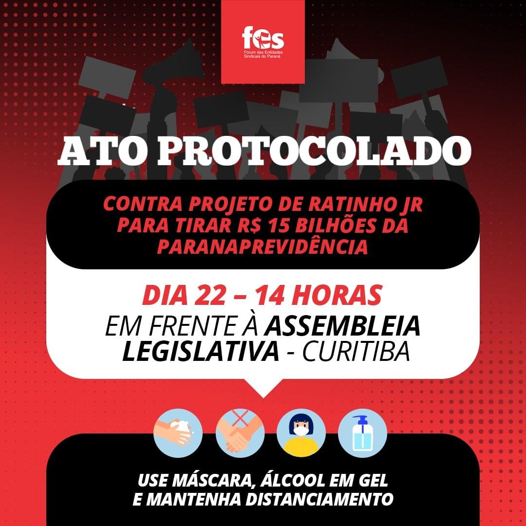 O governador Ratinho Jr. não cansa de perseguir as servidoras e servidores públicos.